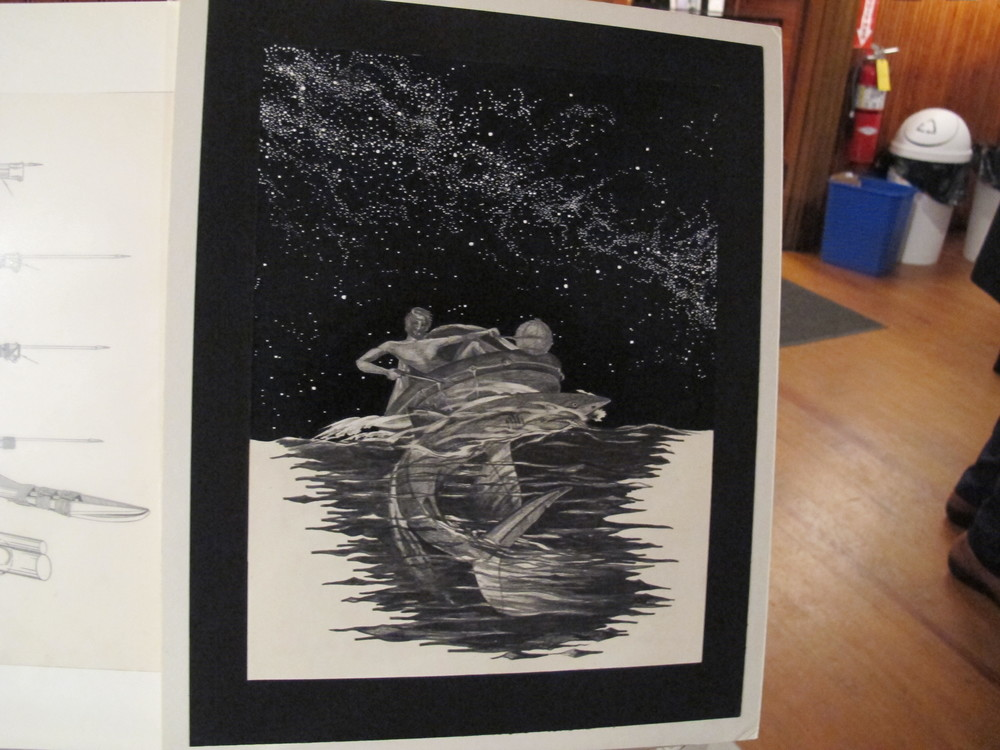 One of the illustrations Steve did that was inspired by—but not meant to be a literal interpretation of—his time at sea. I love the ultra-dark starry sky.