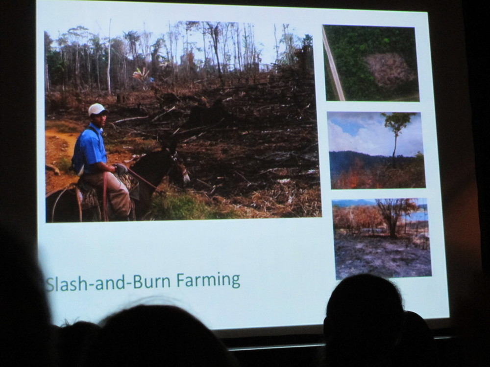 In perhaps the most serious yet inspiring talk of the night, Florence described the devastating effects of slash-and-burn agriculture on Central American forests—and how Sustainable Harvest International has educated subsistence farmers about more Earth-friendly methods of growing their food.