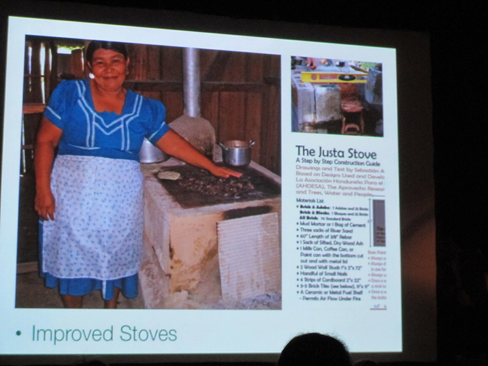 One of Florence's initiatives provides families with simple stoves that reduce reliance on wood and save (mostly) women from inhaling the equivalent of five packs of cigarette smoke a day from open cooking fires.