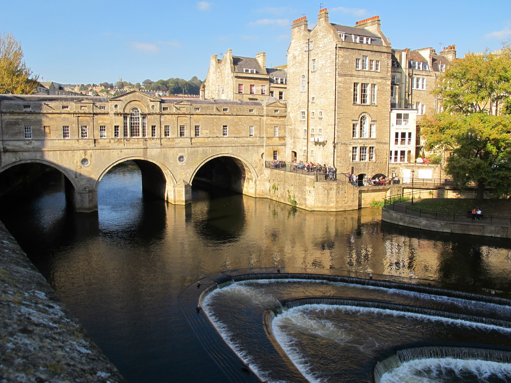 Bath sits on the River Avon—or rather, on one River Avon; Britain has at least five others, including the one on which Shakespeare lived. The popularity of the name has a simple explanation: Avon is a Celtic word that means river.