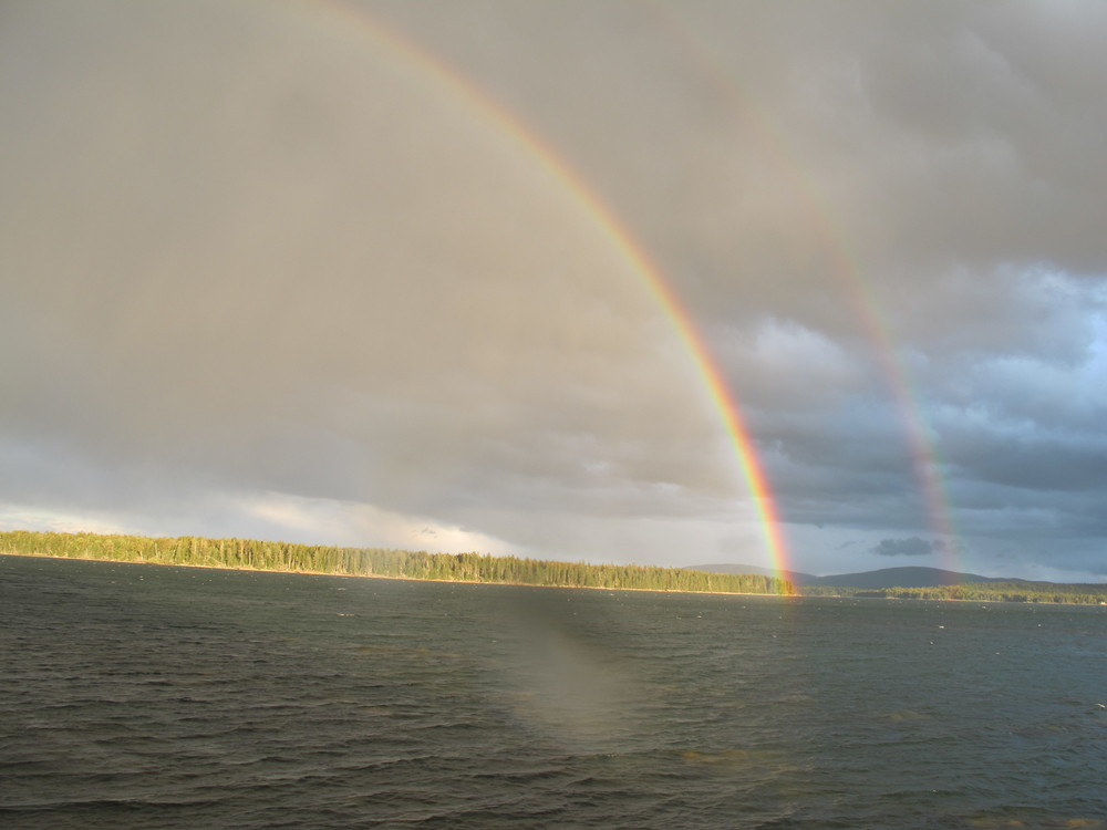 ...and then the first double rainbow...