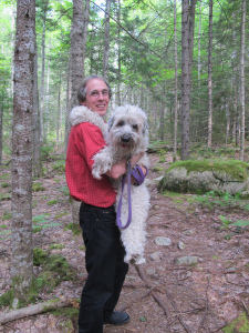 Speaking of Wooster, she is healing well after her recent medical issues, but she really appreciated a lift during a recent hike on Mount Desert Island.
