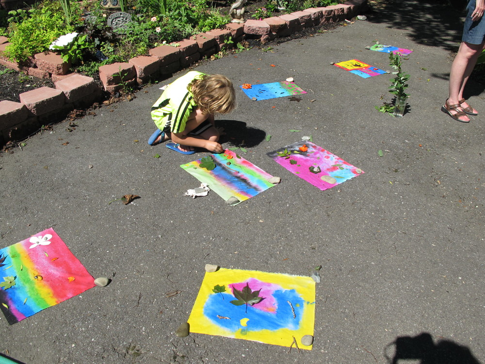 Eight-year-old Sarah (not pictured) became the youngest workshop leader in Notebook history this week when she taught other kids how to make nature-themed sun prints. She also became the first workshop leader in Notebook history to lead participants in a celebratory jellyfish dance.