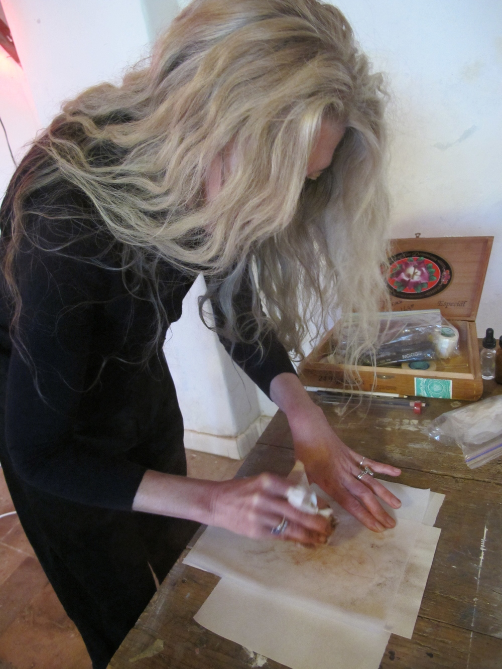 Margaret in action at one of the week-long workshop programs she runs at the Spannocchia Foundation in Tuscany.