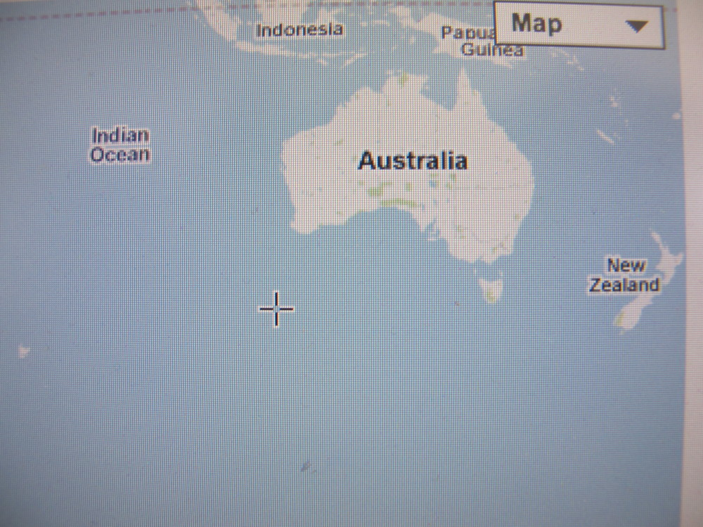 If you drilled a hole from Seal Harbor, Maine, straight through the planet, you'd come out in the Indian Ocean, off the southwestern corner of Australia (marked in the photo by a plus sign).