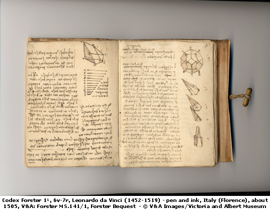 One of da Vinci's journals, from about 1505.