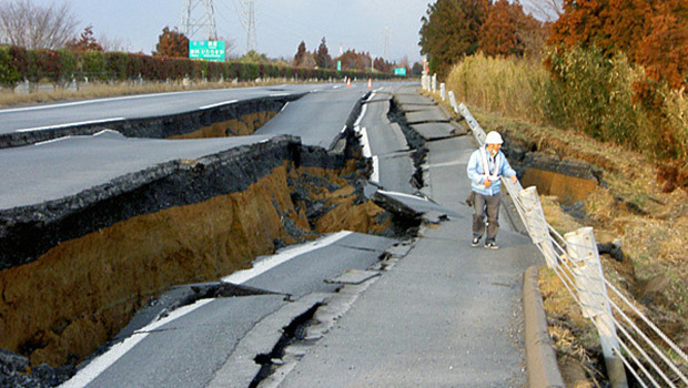 Damage from the quake in Japan