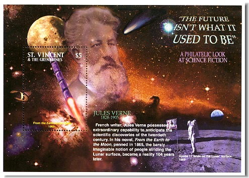 Jules Verne commemorative stamp