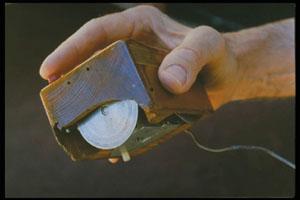 Englebart's computer mouse prototype.