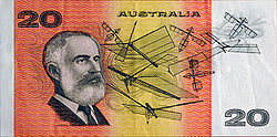 Lawrence Hargrave commemorated on Australia's $20 bill