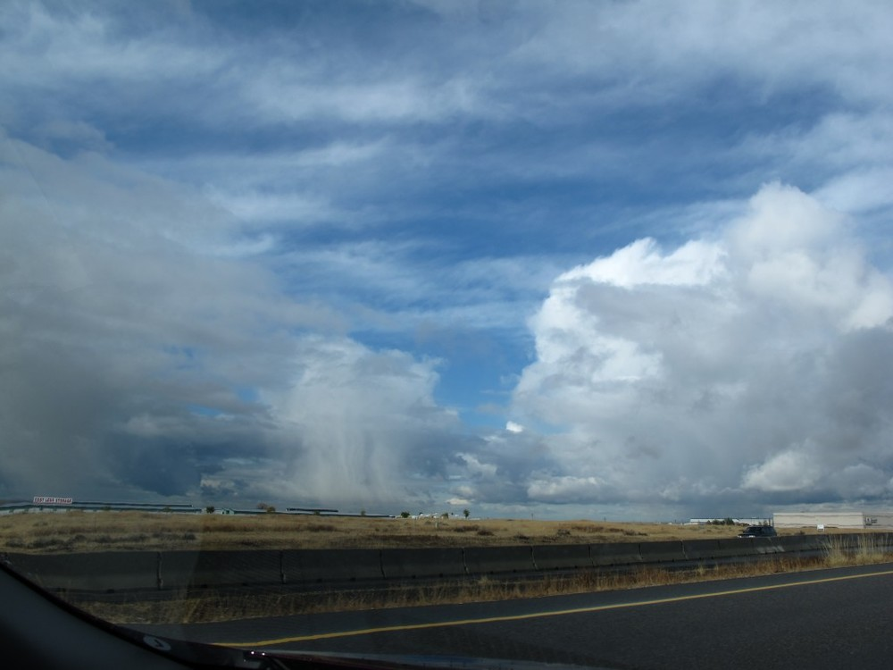 The sky changed constantly, and beautifully, as we drove across Idaho.