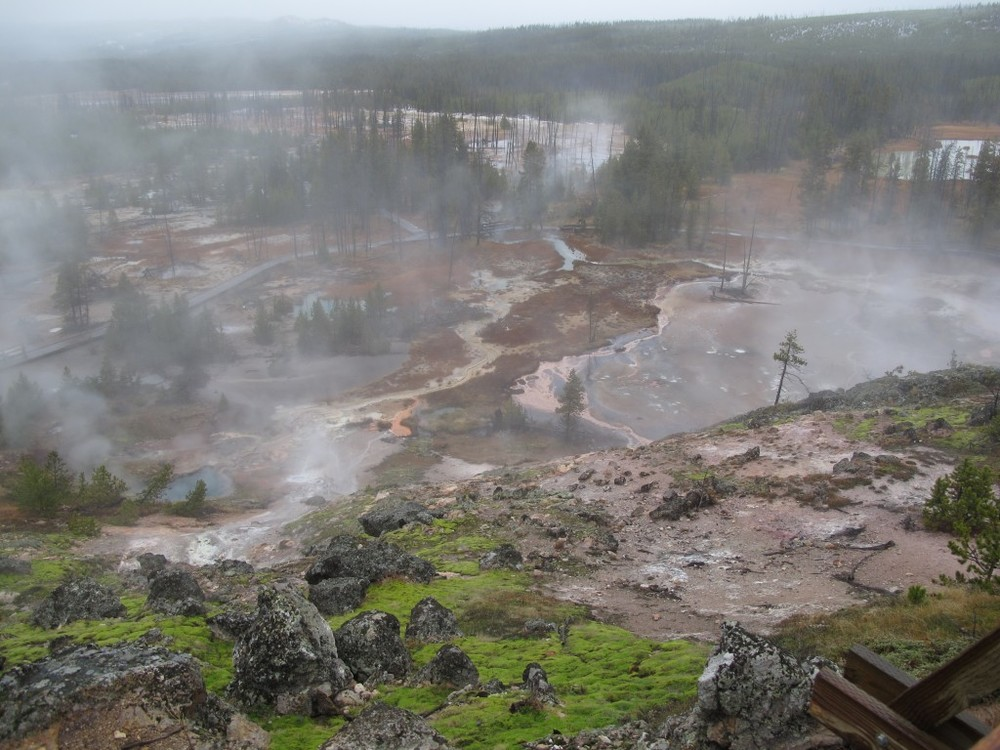 Because Yellowstone sits atop a supervolcano, it never fails to put on an eerie, awesome show of thermal pools and mud pots.
