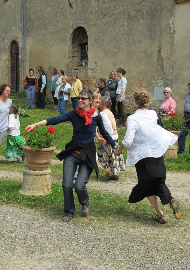With food, music and dance we celebrated May Day, which is a much bigger holiday in Europe than in the States.