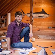 JAMES PROSEK , artist, conservationist and writer of 13 books, including  Ocean Fishes ,  Bird, Butterfly, Eel  and  Trout of the World ; winner of a Peabody Award for a PBS documentary based on his book  Eels