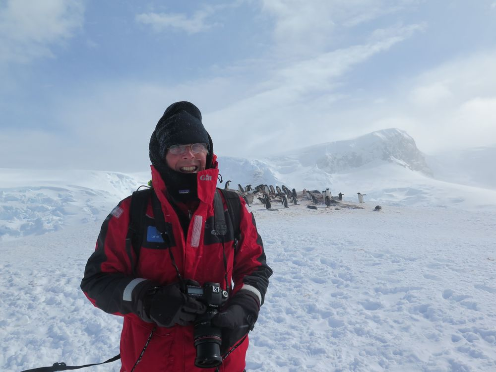 Pamelia took a shot of me with some of my gentoo penguin buddies. Neither of us could fully absorb the fact that we were standing in Antarctica, the last wild continent left on Earth.