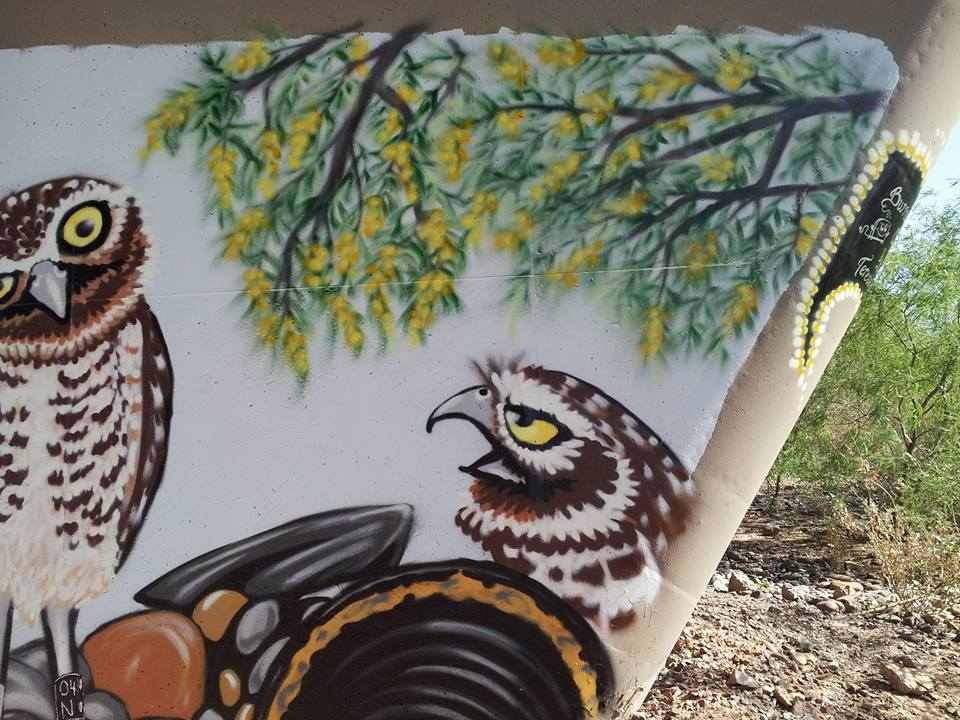 "Teresa the artist jokingly calls this owl ""the critic."""
