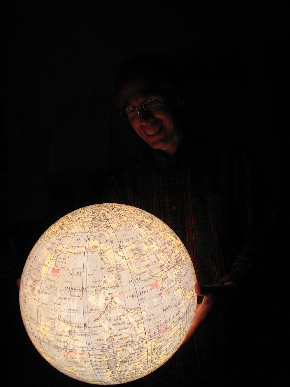 Craig Testing Our Glowing Moon....