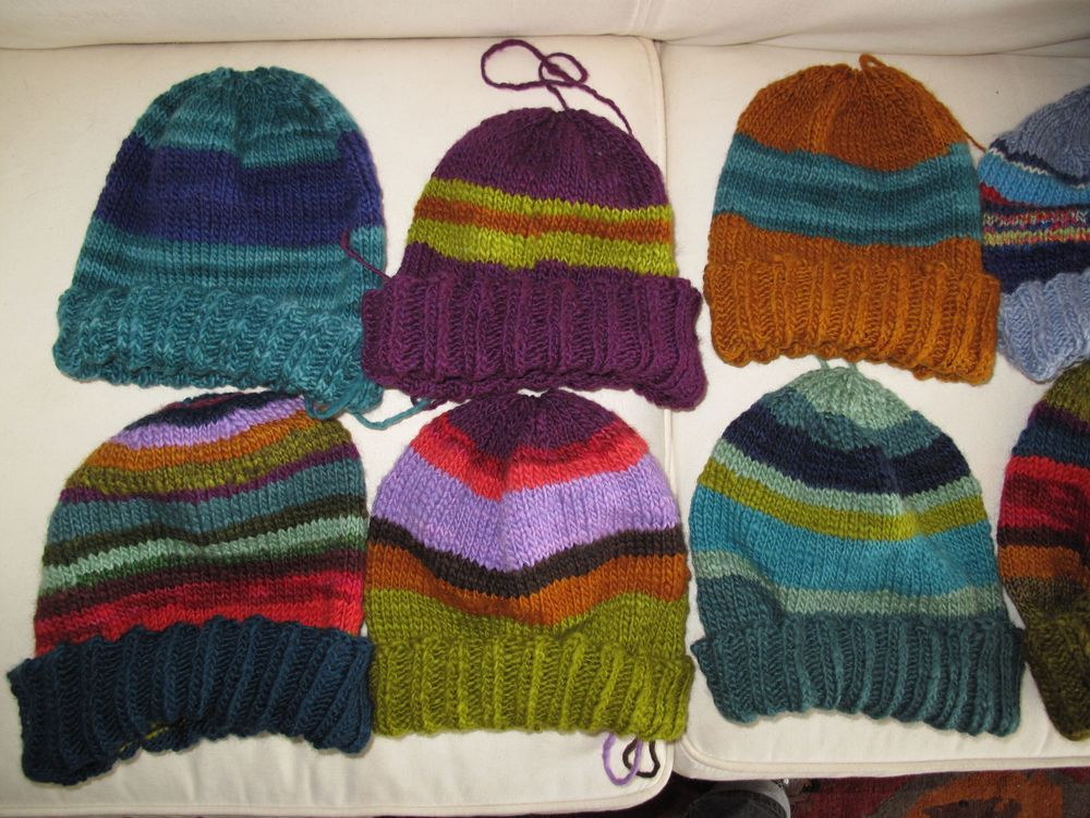 Anne and Pat's NN Knitted Hats....