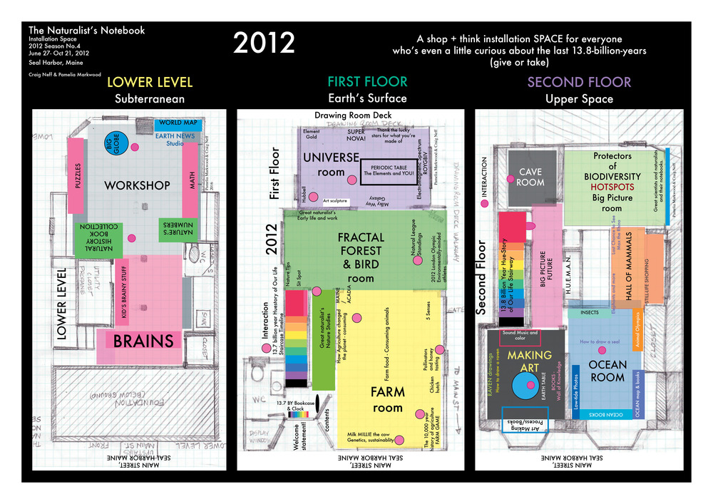Naturalist's Notebook 2012 floor plan