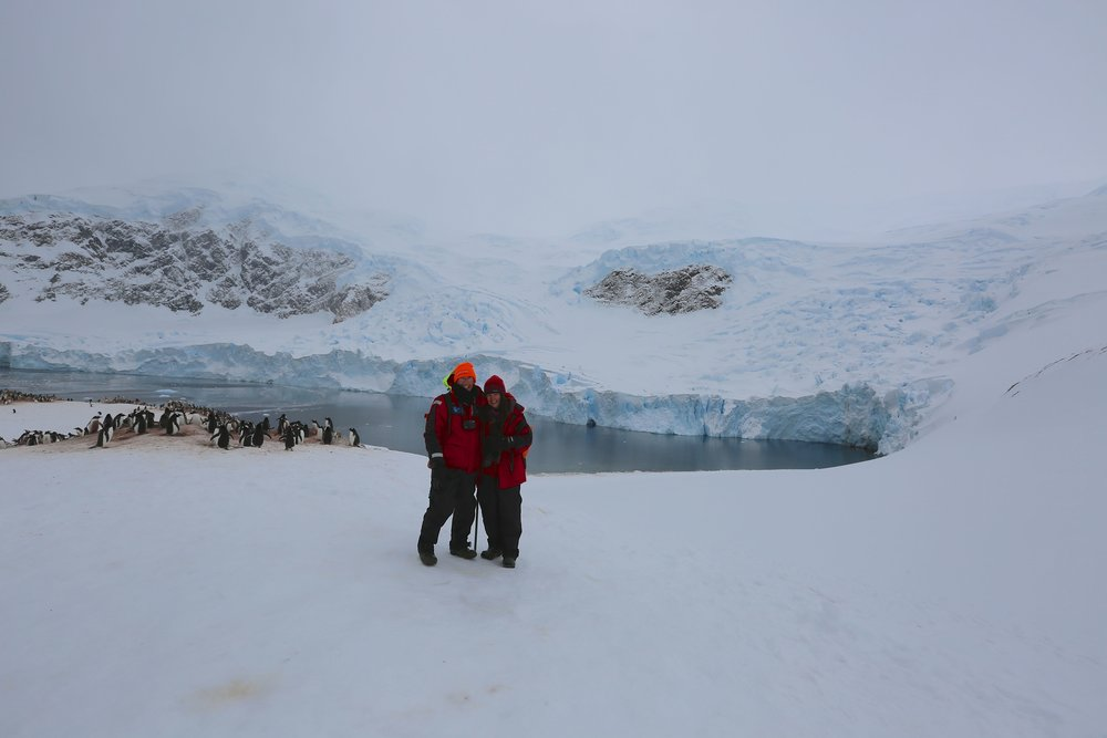 Craig Neff and Pamelia Markwood in Antarctica