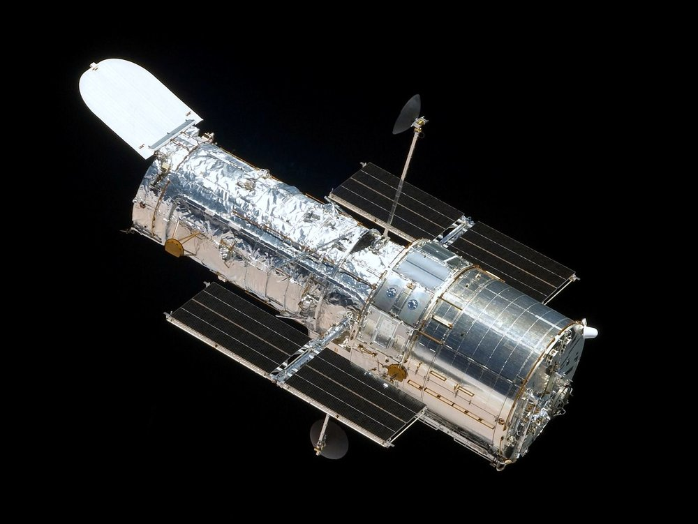 The Hubble telescope (photo courtesy of NASA)