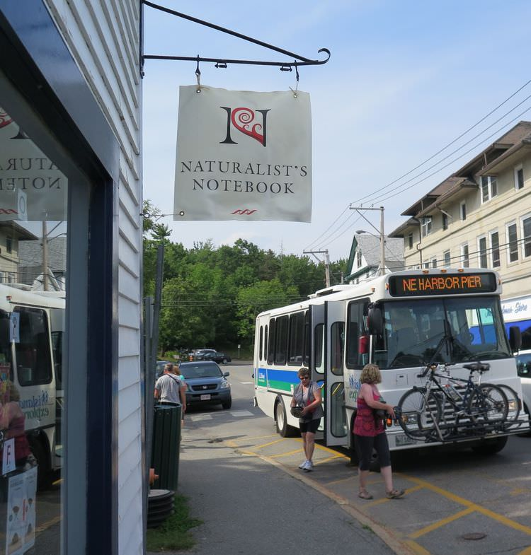 The free Island Explorer bus system on Mount Desert Island includes a stop right in front of our Northeast Harbor Annex.