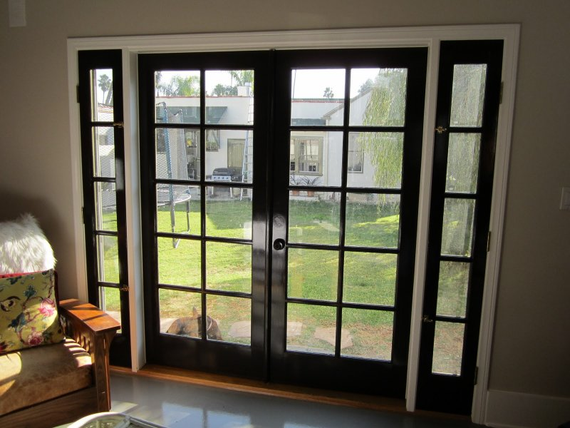 Entry exterior doors for Sliding french doors with sidelights