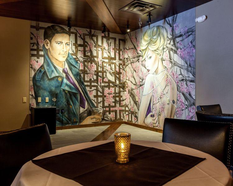 Jazz interior design Mr. Tipple's Recording Studio Mural by Amanda Lynn