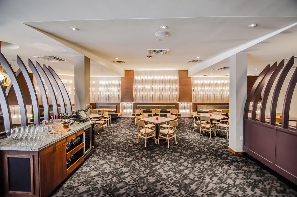 Interior Design Custom Light Fixture Wall Cadence Restaurant