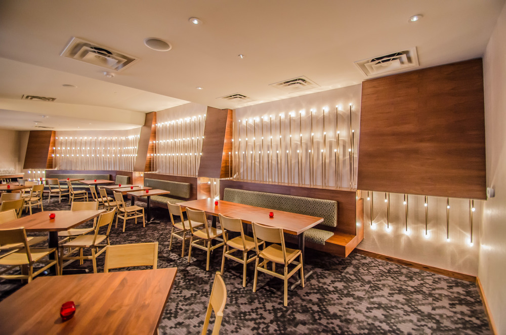 Bay Area Interior Restaurant Design   Cadence Restaurant  Custom Light  Fixtures