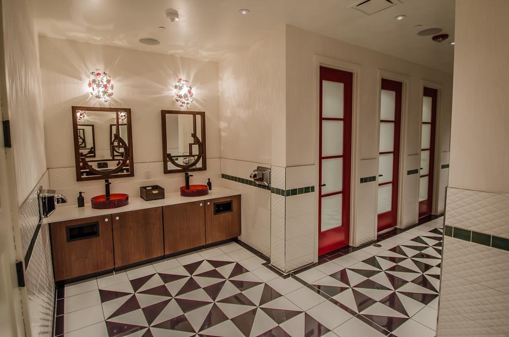Restaurant Design Interiors Custom Bathrooms - Cadence Restaurant