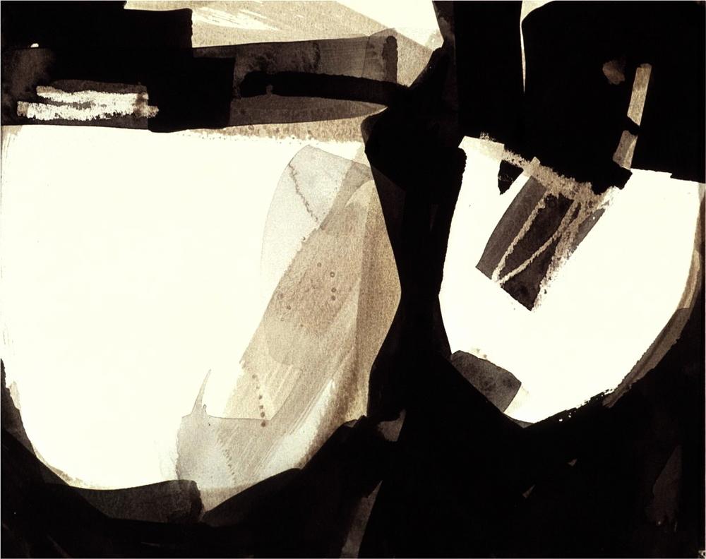 Ella Clocksin (2000) Two Bowls, Indian ink