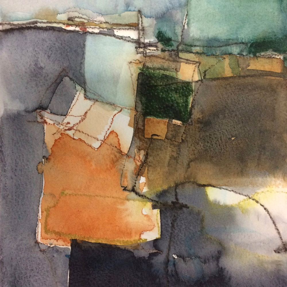 Ella Clocksin (2017) Quarry, watercolour & mixed media
