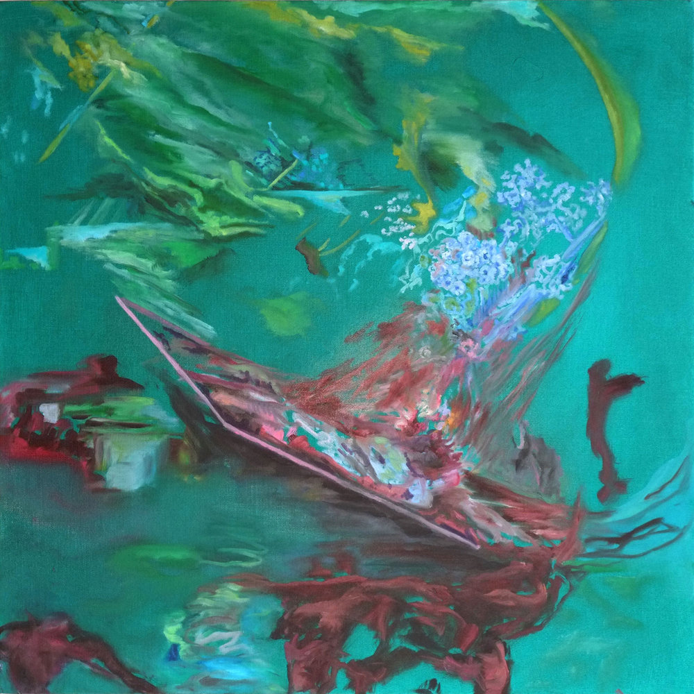 Marius von Brasch,  Other Echoes no.4,  60 x 60cm, oil on canvas