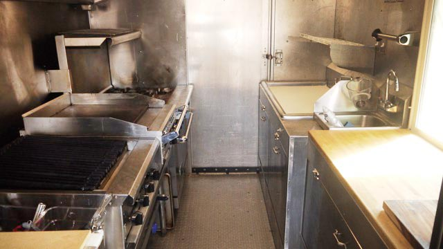Clean, spacious and well organized. Our custom-built trucks were designed  with great food and cleanliness in mind.
