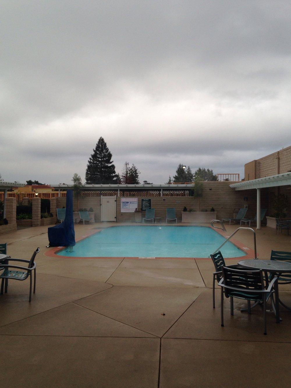 Swimming pool, Best Western Hotel, Redding, CA. 11/30/16