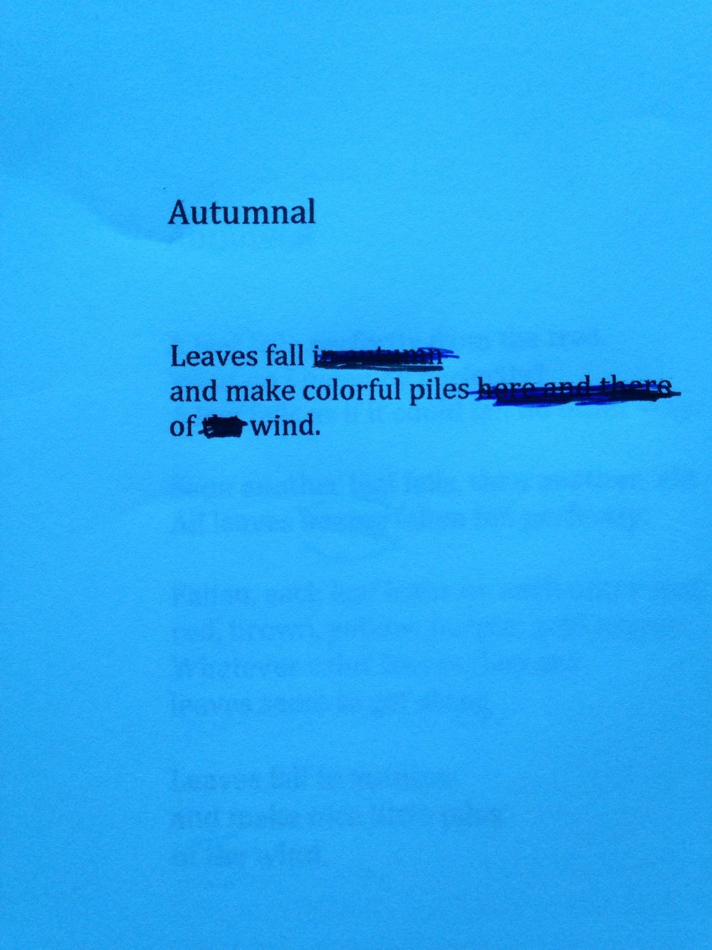 Draft of poem, December 21, 2016.