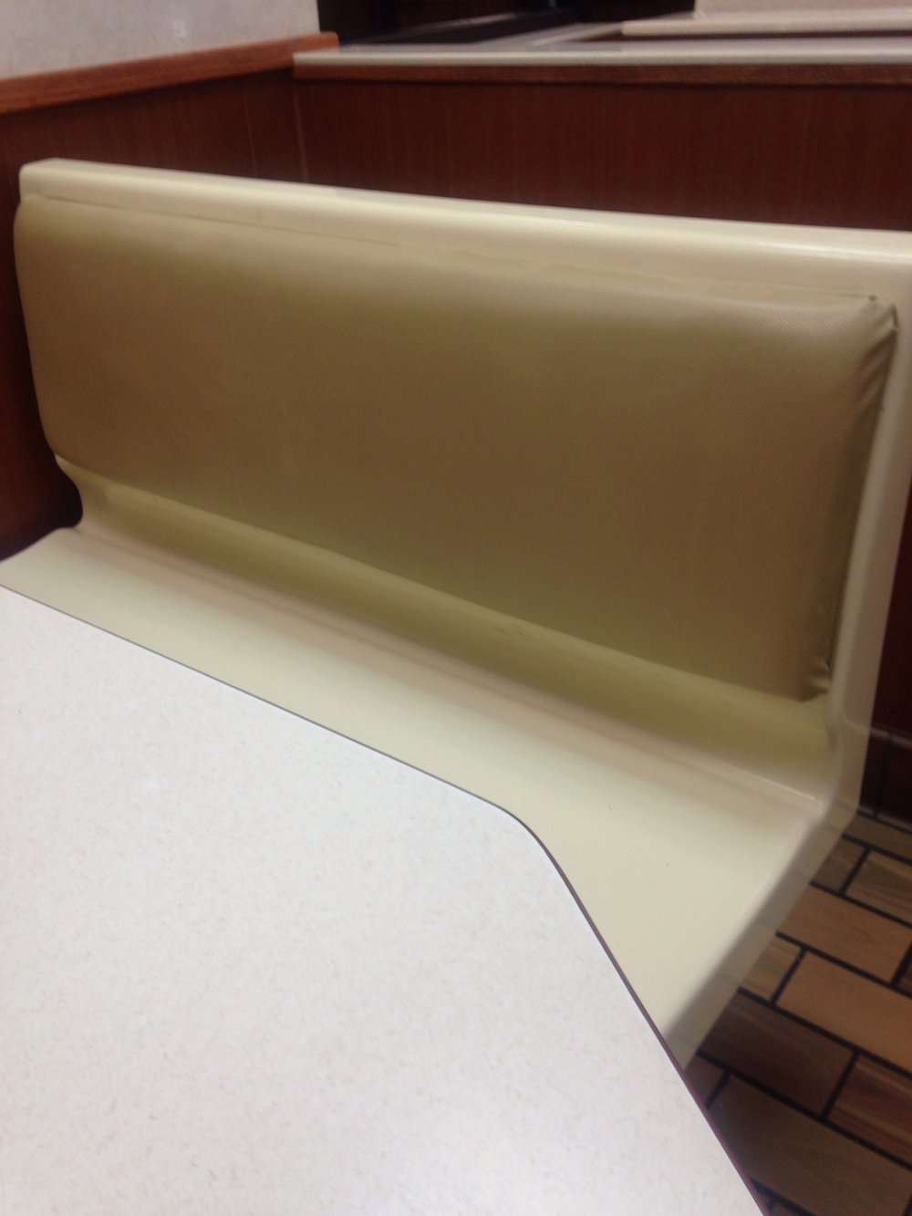 Empty booth, McDonald's, Lander, Wyoming, 10pm, May 11, 2017.