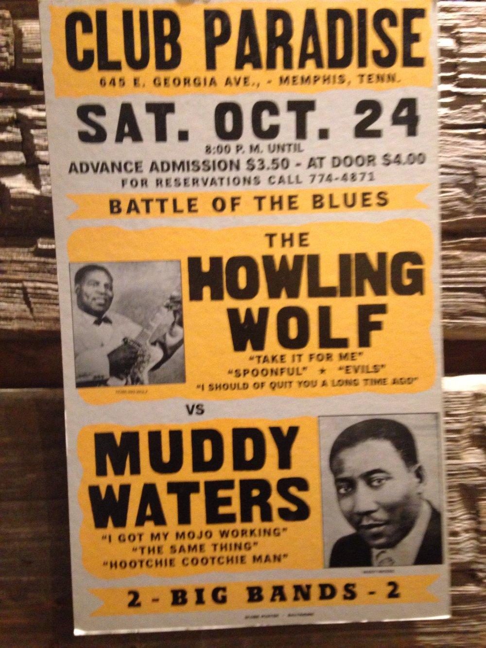 Concert Poster, Delta Blues Museum, Clarksdale, Mississippi, June 9, 2017.