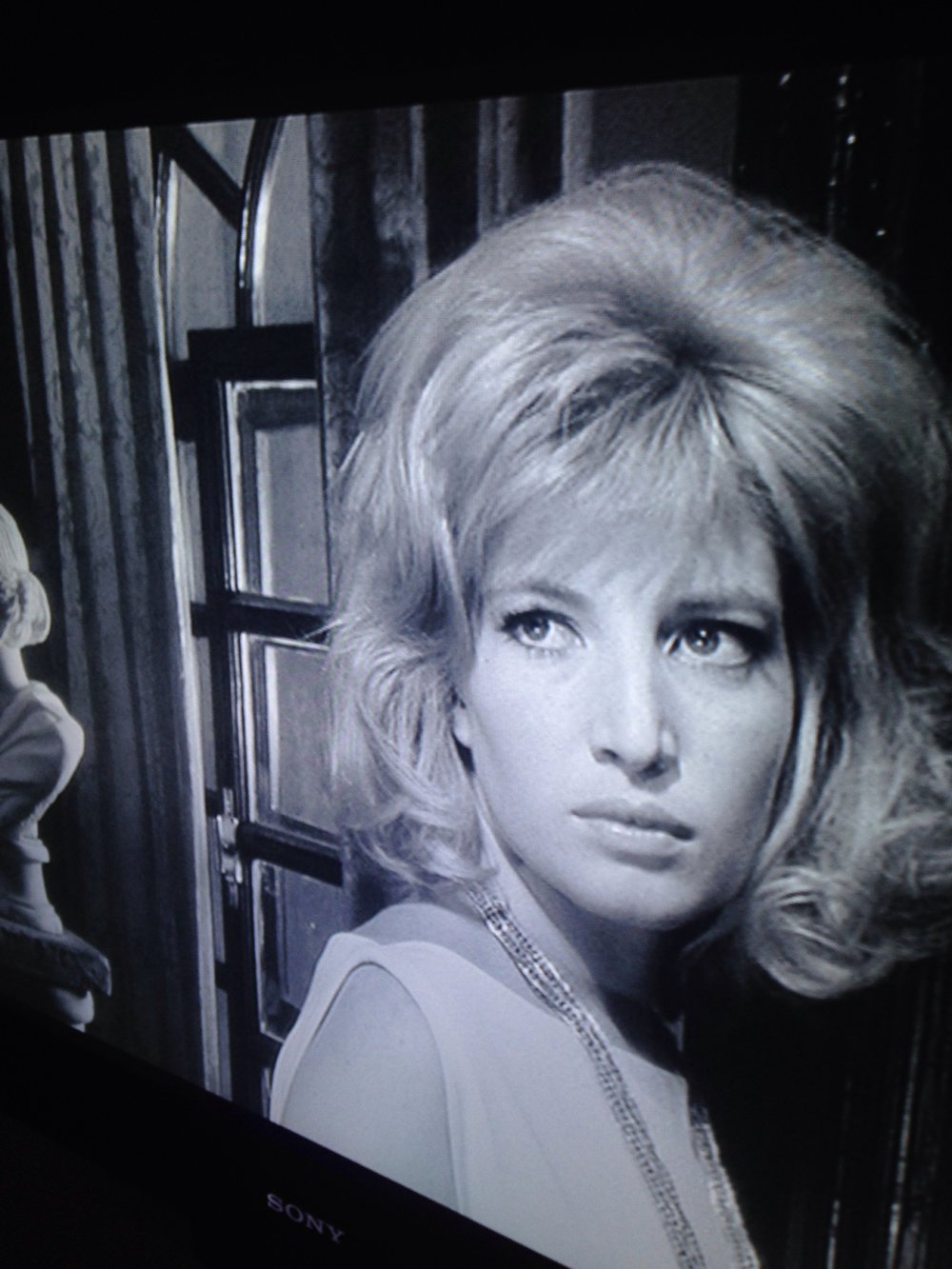 "Monica Vitti, from Antonioni's, ""L'Eclisse"", 1963, screen capture by author sometime in early 2017."