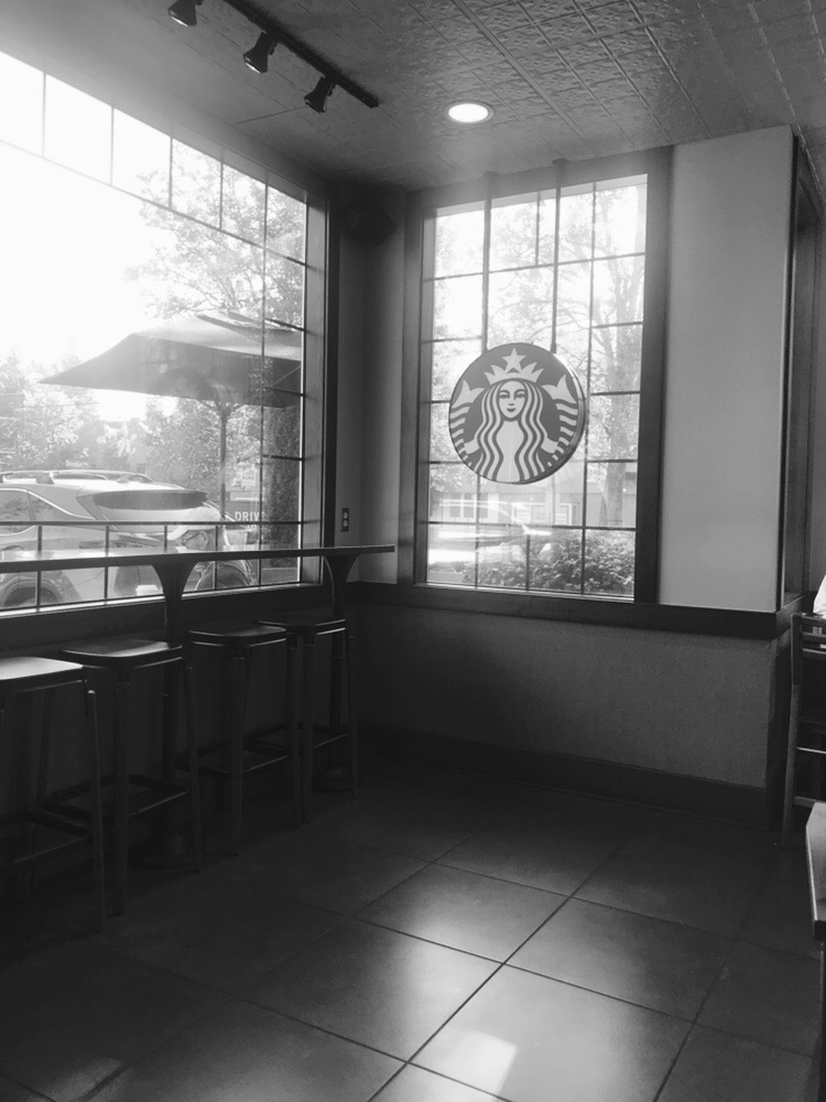 Starbucks, Lake Oswego, OR, 7 a.m., June 17, 2018.