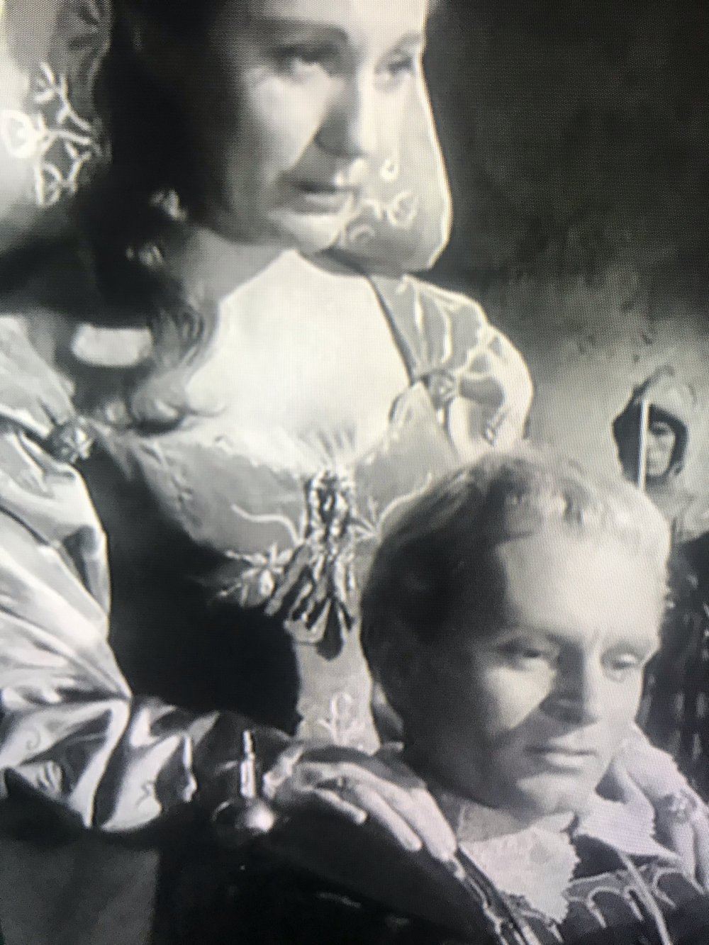 'Hamlet', the movie, 1948, starring Sir Laurence Olivier and Jean Simmons, an Academy Award winner.