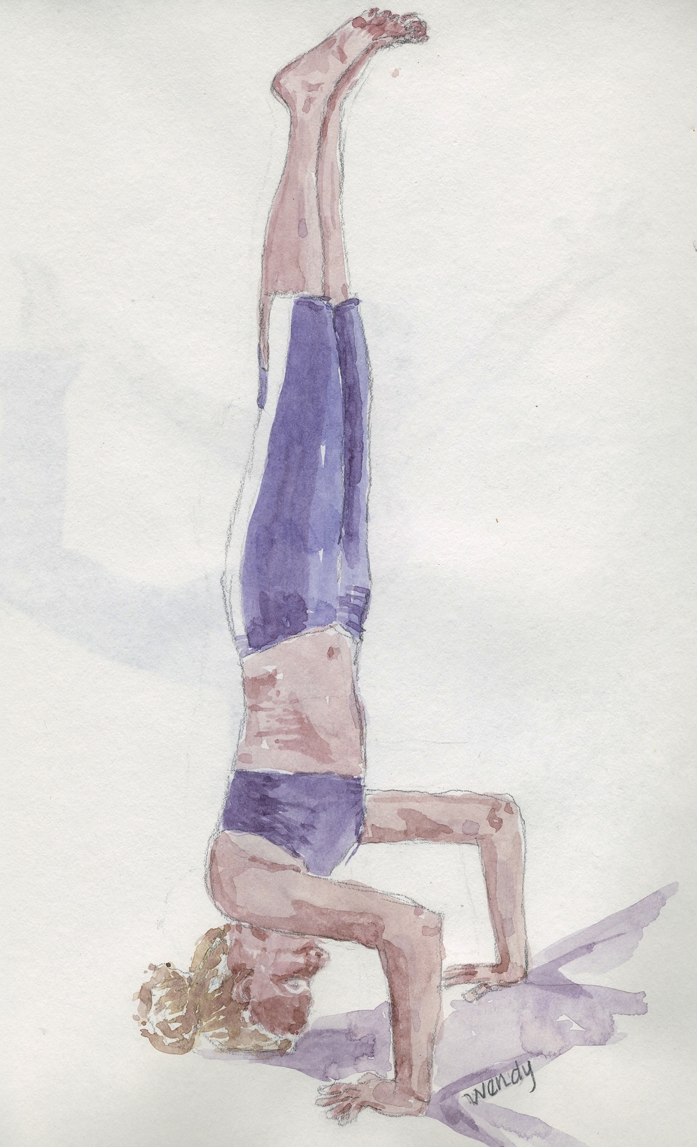 Amber's Headstand