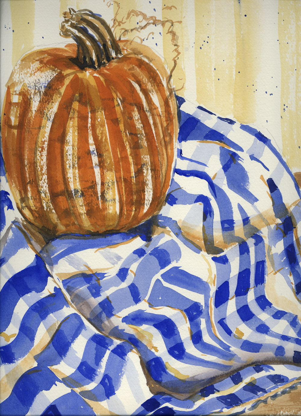 Gingham Pumpkin