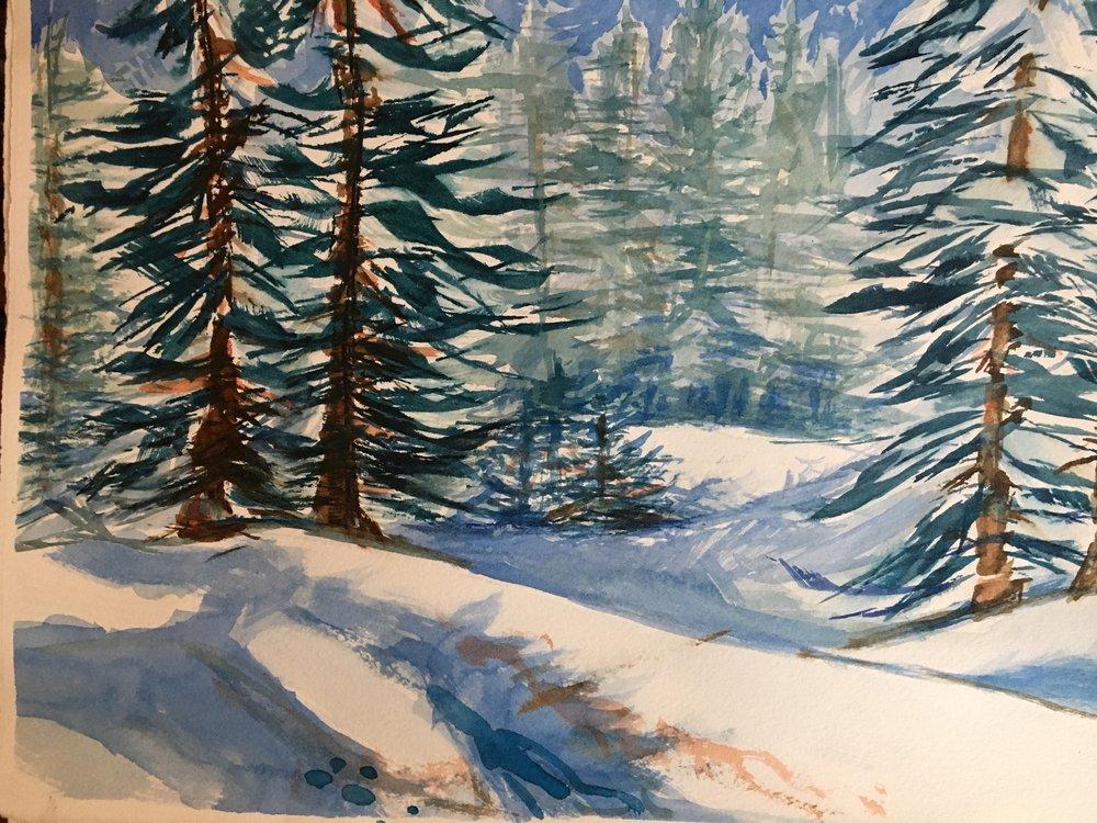 "A White Christmas 11""x15"""