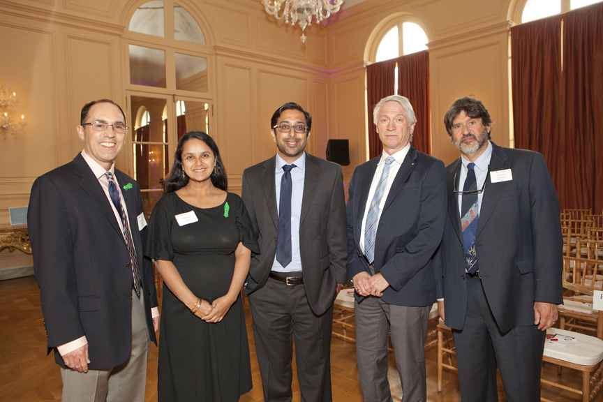Panelists from l-r: Brandon Staglin, Dr. Manpreet Singh, Dr. Vikaas Sohal, Dr. Stephen Hinshaw, and Moderator Dr. Steven Adelsheim.
