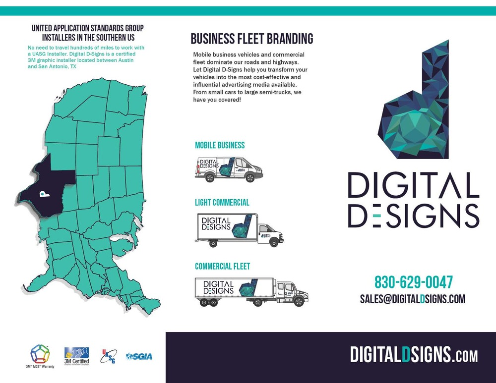 Digital D-Signs Trifold Brochure