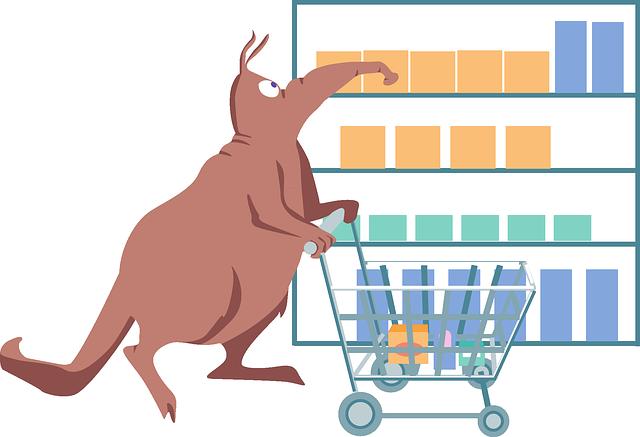 healthy supermarket shopping