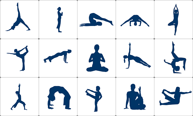 Different yoga poses
