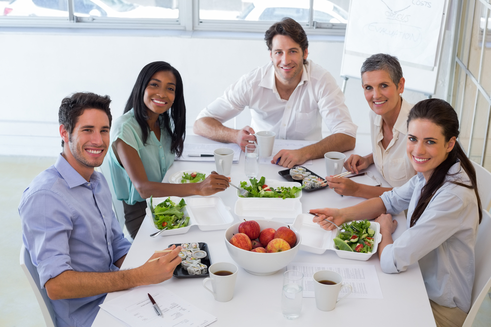 staying healthy while working through nutrition and exercise